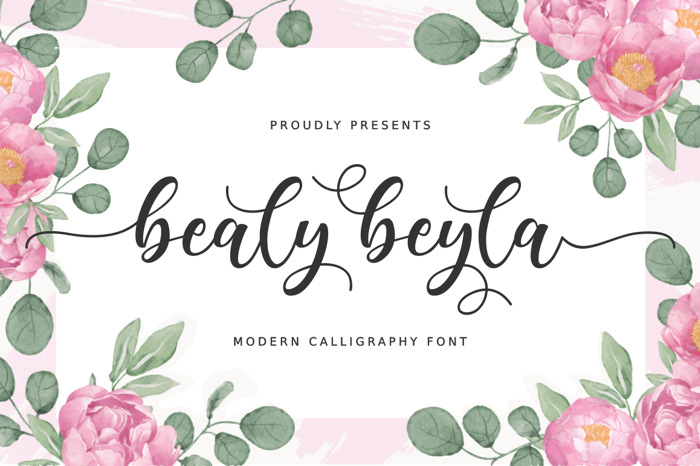 Bealy Beyla Font poster