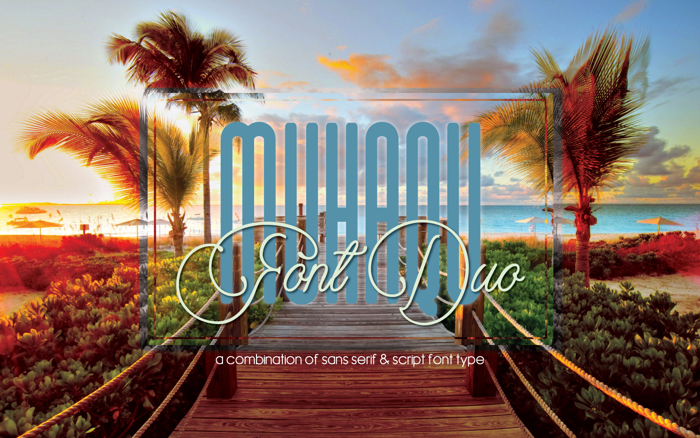Muhaqu Script Font poster