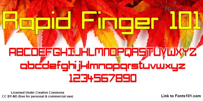 Rapid Finger 101 Font poster