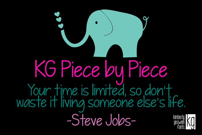 KG Piece by Piece Font poster