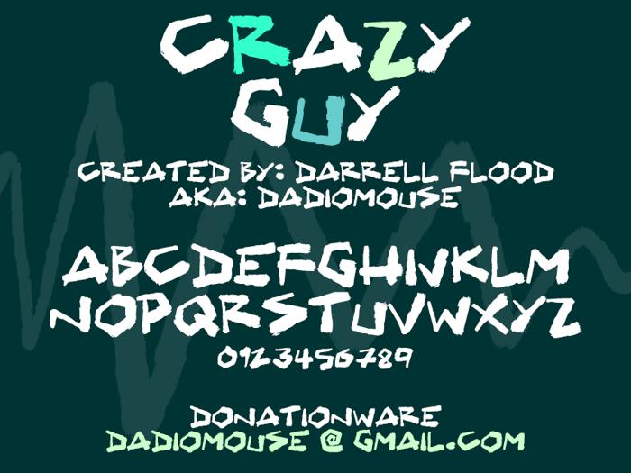 Crazy Guy Font poster