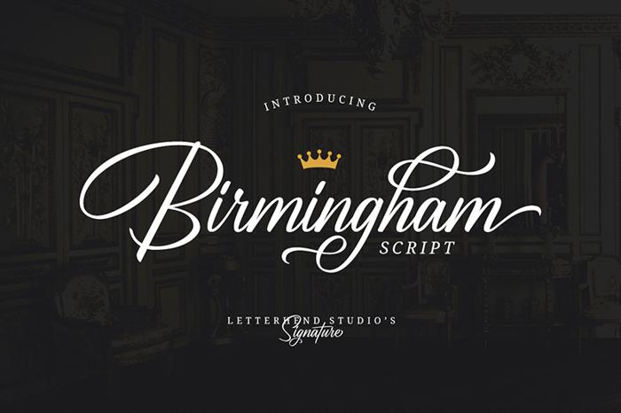 Birmingham Script DEMO Font poster