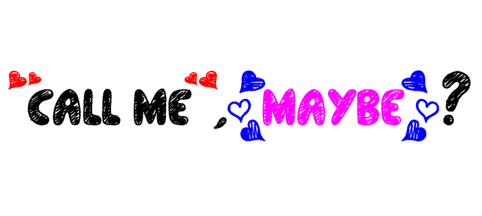 Call Me, Maybe? Font poster