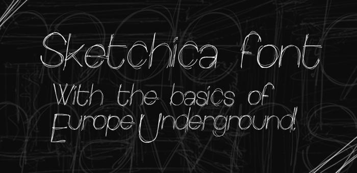 Sketchica Font poster