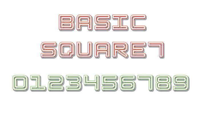 Basic Square 7 Font poster