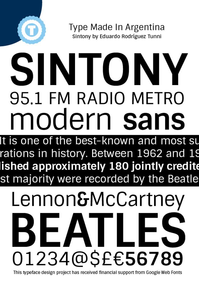 Sintony Font poster