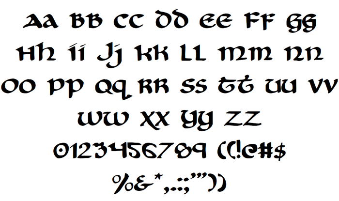 Cry Uncial Font poster