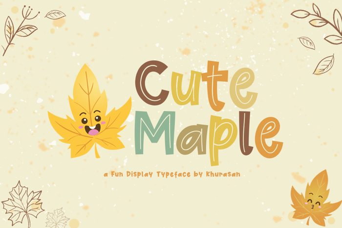 Cute Maple Font poster