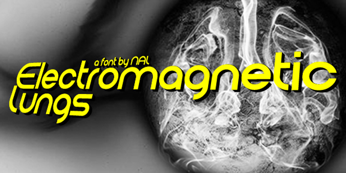 Electromagnetic Lungs Font poster