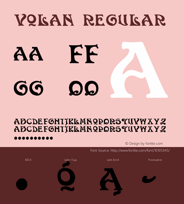Volan Font poster