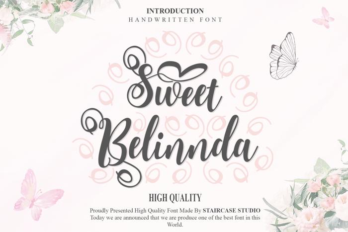 Sweet Belinnda Font poster