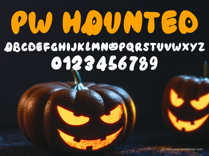 PWHaunted Font poster