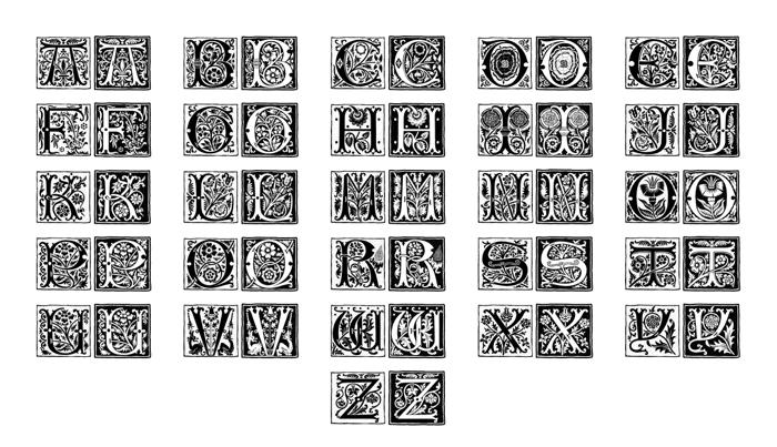 Romantique Initials Font poster