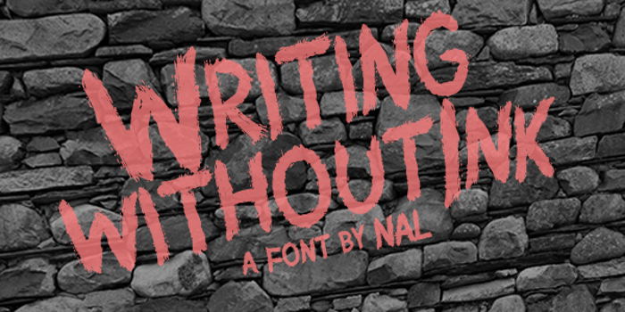 Writing Without Ink Font