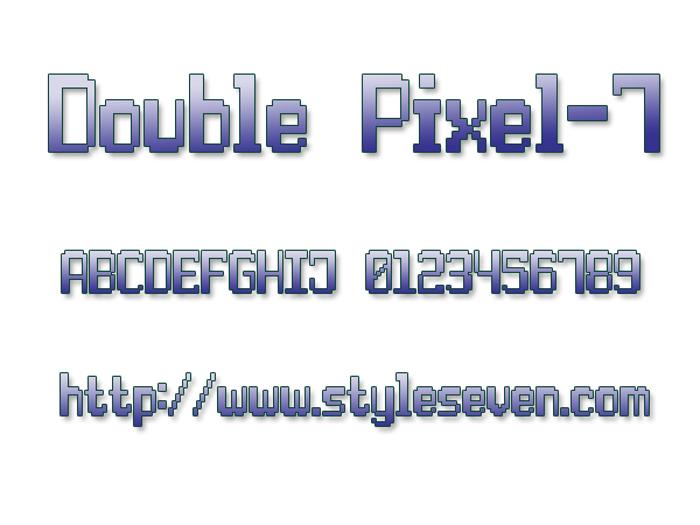 Double Pixel-7 Font poster