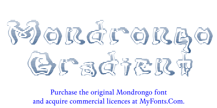 Mondrongo Gradient Font poster