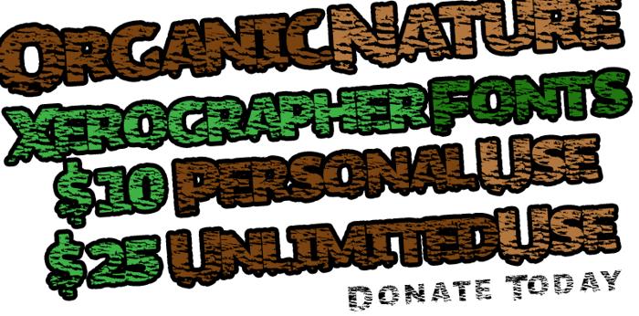 OrganicNature Font poster