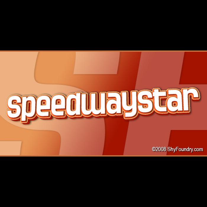 SF Speedwaystar Font poster