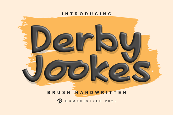 Derby Jookes Font poster