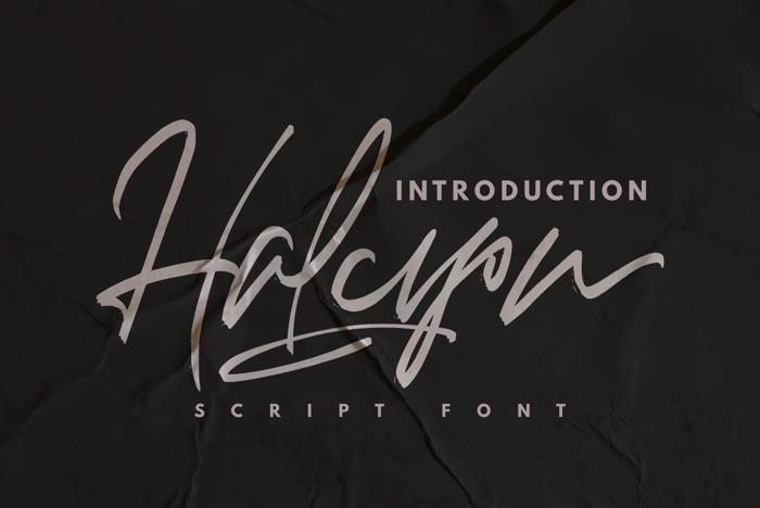 Halcyon Font poster