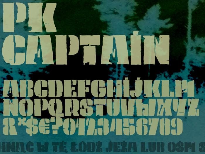 PK Captain Font poster