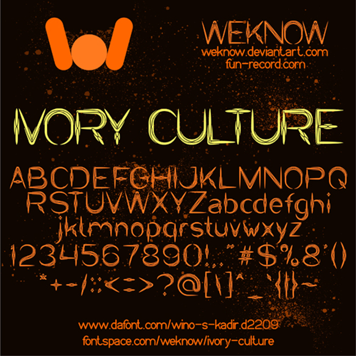 IVORY CULTURE Font poster