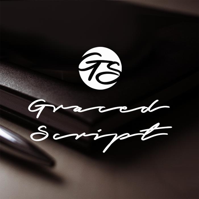 Graced Script Font poster