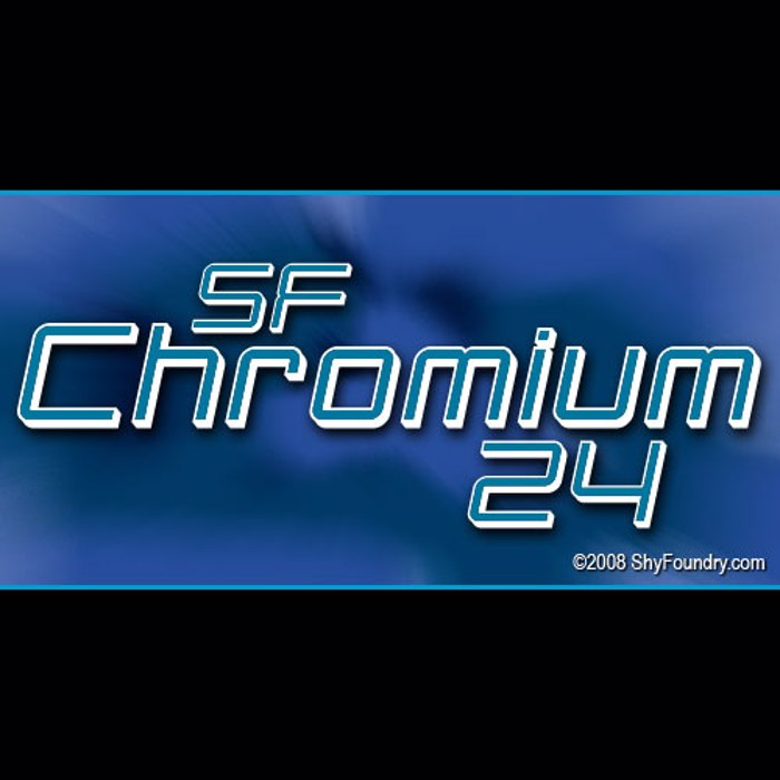 SF Chromium 24 Font poster
