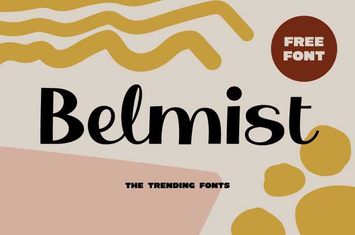 Belmist Font poster