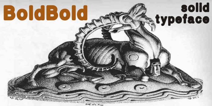 boldbold Font poster