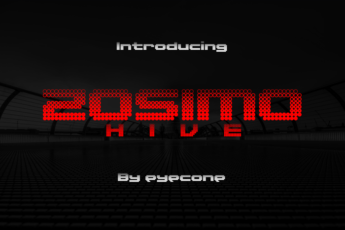 Zosimo Hive Font poster