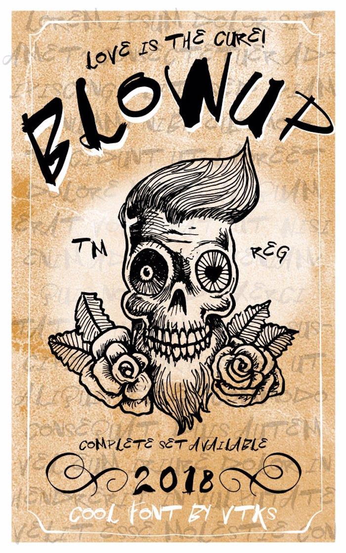 Vtks BlowUp Font poster