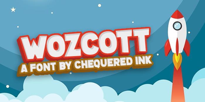 Wozcott Font poster