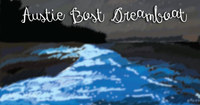 Austie Bost Dreamboat Font poster