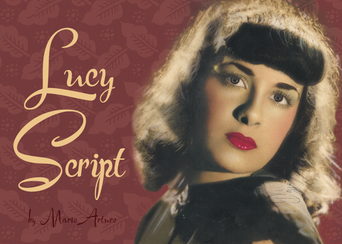 Lucy Script Font poster