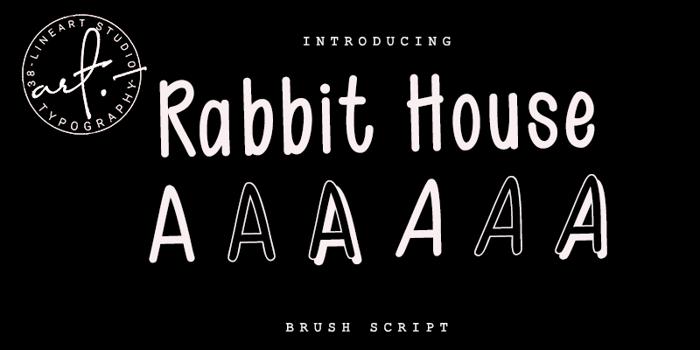 Rabit House Font poster