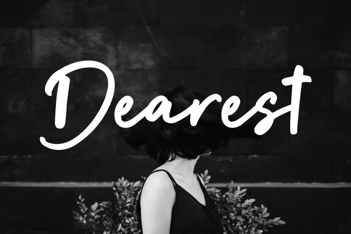 Dearest Font poster