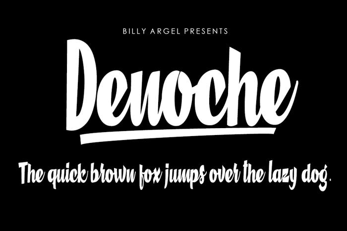 Denoche Font poster