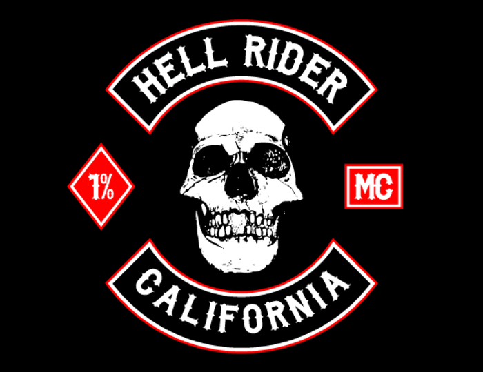 Biker from Hell Font poster