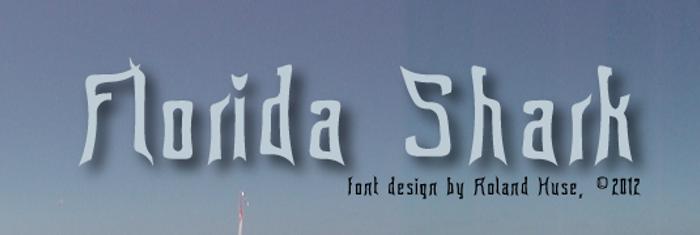 Florida shark Font poster