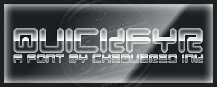 Quickfyr Font poster