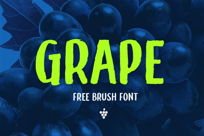 Grape Font poster