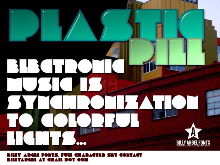 PLASTIC PILL Font poster