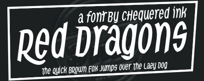 Red Dragons Font poster