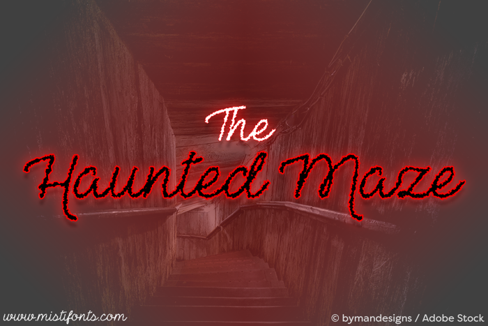 The Haunted Maze Font poster
