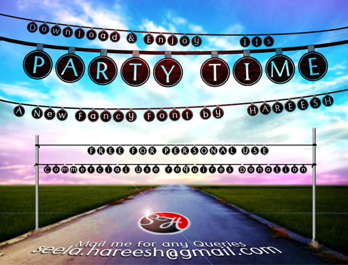 Party Time Font poster