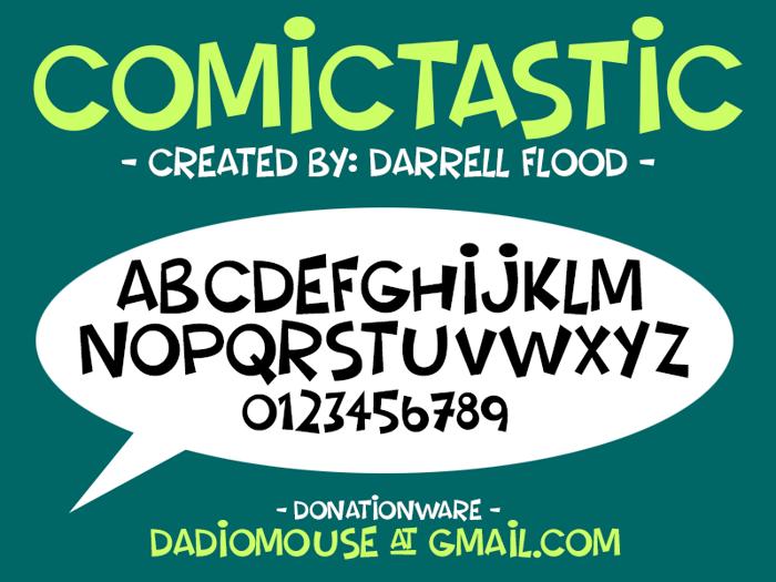Comictastic Font poster