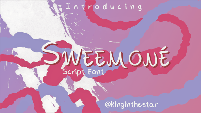 Sweemone Font poster