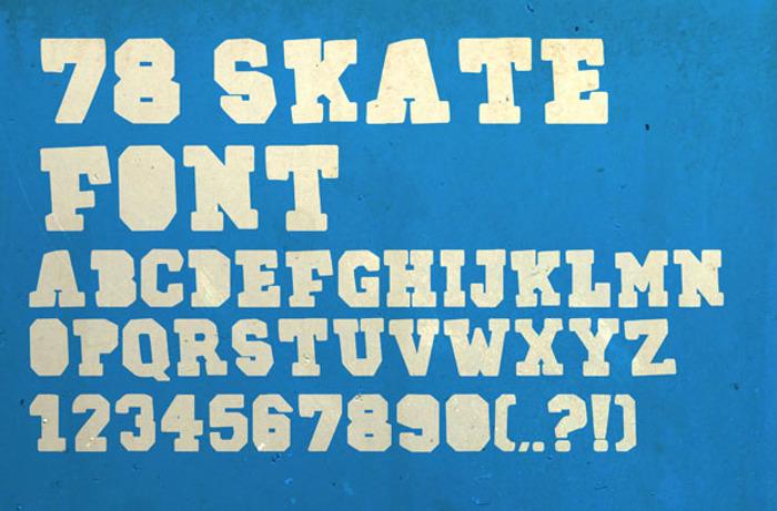 78SKATE Font poster