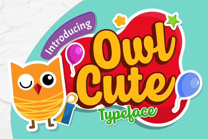 Owl Cute Font poster